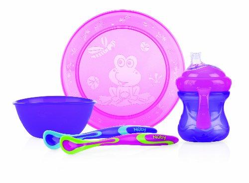 N by couverts set repas assiette bol gobelet 2 - Couleur rose violet ...