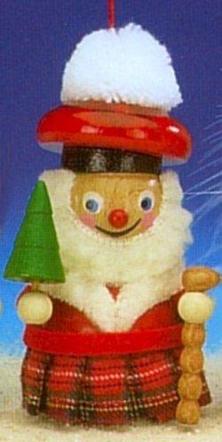 Scottish Santa Steinbach Wood Christmas Tree Ornament
