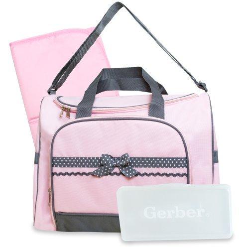 Gerber Duffel Style Diaper Tote Bag, Pink Color: Pink Nourrisson, bébé, enfant