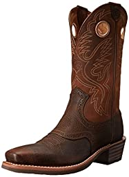 Ariat Men\'s Heritage Roughstock Western Cowboy Boot, Brown Oiled Rowdy, 13 D