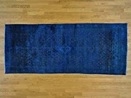 4\'x9\' Gallery Size Semi Antique Overdyed Persian Joshagan Hand Knotted Rug G25270
