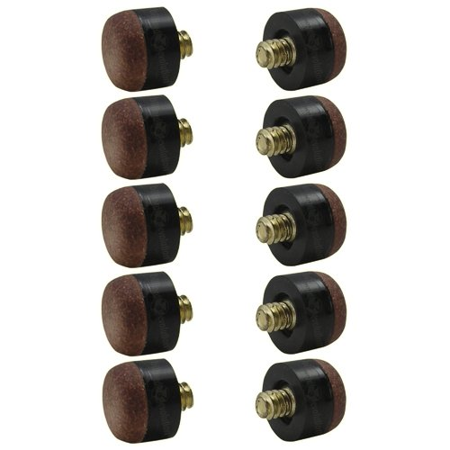 Cheapest Prices! Screw-On Tips for Pool Cues - 12mm - Hard