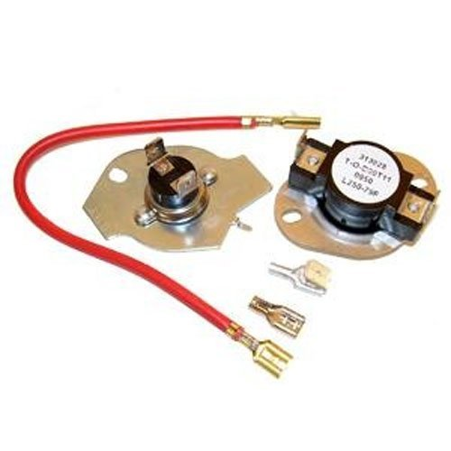 OEM Factory Original Genuine Whirlpool Kenmore Maytag Dryer Kit 279816 (Kit Has 3390291 L250-80f High Limit Thermostat & 3977393 Thermal Cut-off) (Thermal Cut Off For Kenmore Dryer compare prices)