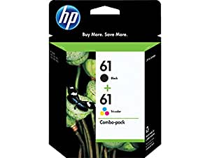 HP 61 Ink Cartridges Black and Color Combo Pack Original (CR259FN) In Retail Packing