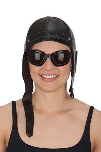 Men's Aviator Hat and Goggles