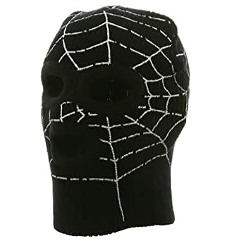 Super Hero Spiderman Ski Mask-Black W20S13D