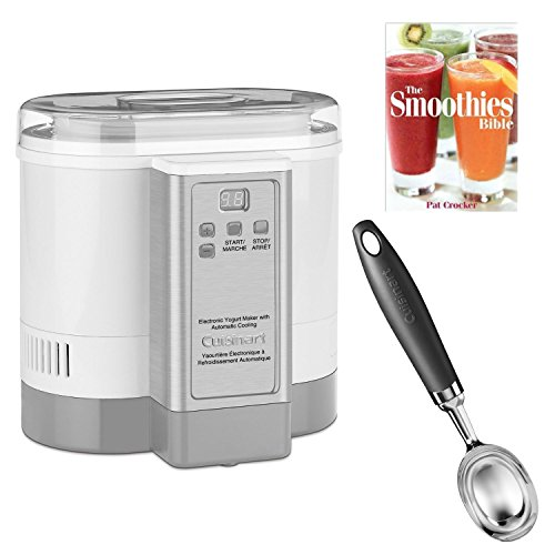 Cuisinart CYM100 Electronic Yogurt Maker w/ Ice Cream Bowl and Spoon and The Smoothies Bible By Pat Crocker (Cuisinart 100 Ice compare prices)