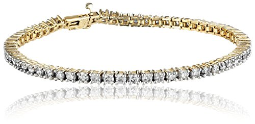 10k-Gold-4-Prong-Diamond-Tennis-Bracelet-5-cttw-I-J-Color-I1-I2-Clarity