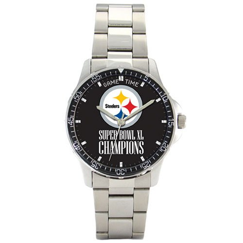 NFL Men's FC-PIT-SB40 Pittsburgh Steelers Coach Super Bowl Watch