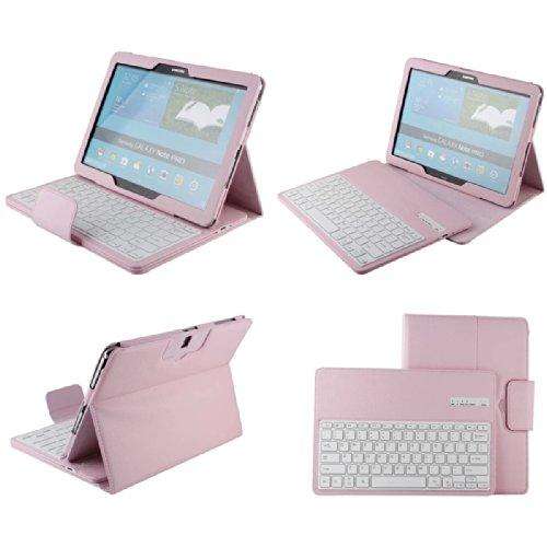 Etopxizu Samsung Galaxy Note Pro & Tab Pro 12.2 Keyboard Case - Detachable Romovable Bluetooth Keyboard Stand Case / Cover For Samsung Galaxy Note Pro P900 / P901 & Tab Pro 12.2 Inch Sm-T900 / T905 Tablet - Pink
