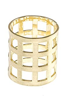 buy Trendy Fashion Jewelry Caged Square Cutout Ring By Fashion Destination | (Gold)