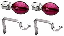 Starz 4-Piece Stainless Steel Curtain Bracket - Pink