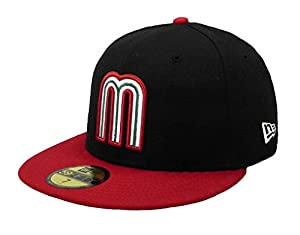 Buy New Era 59fifty fitted Hat Cap World Baseball Classic Mexico Men size Black Red