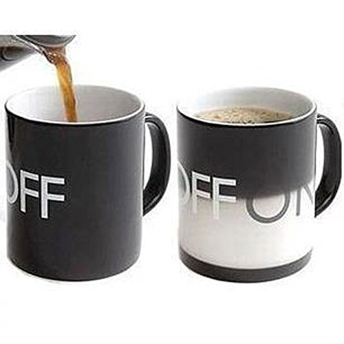F&G Novelty Coffee Mug Color Changing Ceramic Coffee Tea Cup Gift Idea, 300Ml