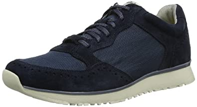 Clarks Mens Sport Track Race Suede Shoes In Navy Standard Fit Size 12