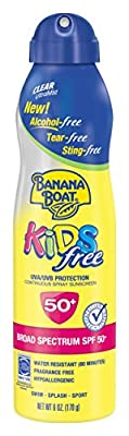 Cheapest Banana Boat Sunscreen Kids Ultra Mist Tear-Free Sting Free Broad Spectrum Sun Care Sunscreen Spray - SPF 50, 6 Ounce from Banana Boat - Free Shipping Available