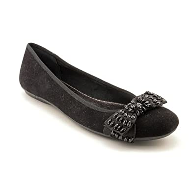 Alfani Amor Womens Size 5.5 Black Leather Flats Shoes