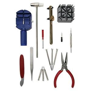 16 Piece Watch Repair Pin & Back Link Remover Adjusting Tool Kit Set Repair New