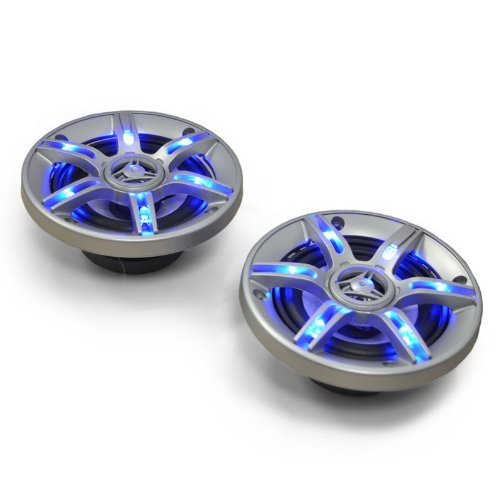 10cm-Auto-Lautsprecher Auna CS-LED4 500W Lichteffekt