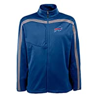 NFL Men's Full Zip Viper Fleece Jacket, Cardinal/Gunmetal by Antigua