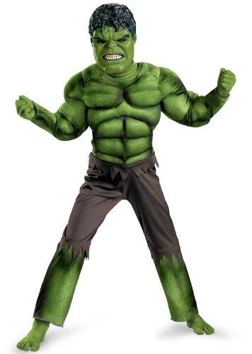 Hulk Movie Classic Muscle Costume - Medium (Child Classic The Hulk Costume)