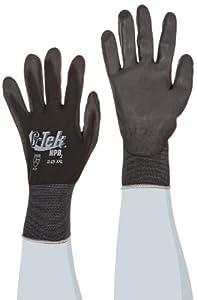 G-Tek 33-325/XXL NPB2 Seamless Knit Nylon Gloves with Urethane Coated Palm and Fingers, Black, XX-Large, 1-Dozen