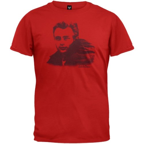 Old Glory Mens James Dean - Sketch Soft T-Shirt - Large Red