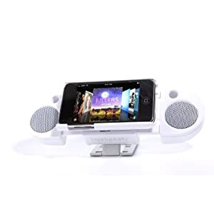 Livespeakr Ultraportable Speaker System for iPod/iPhone (White)