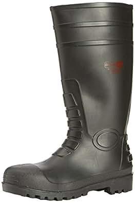 Blackrock Safety Wellington / Welly Steel Toe Black - Size UK 11