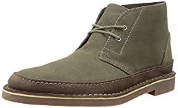 Clarks Men\'s Bushacre Rand Chukka Boot, Taupe Suede, 12 M US