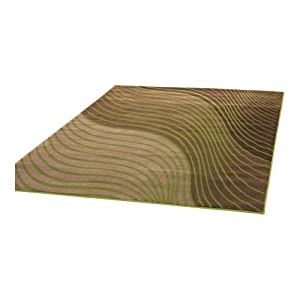 3 Sizes Available - Sincerity Modern - Ripple Green - Good Quality Modern Rug by Flair Rugs