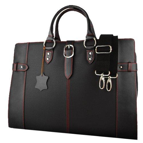 DIABLO ビジネスバッグ KA-2090 牛革 メンズ 鞄 【黒×赤】