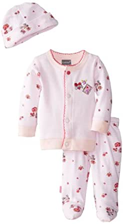 Kushies Baby-Girls Newborn Take Me Home Set Bon Voyage, Pink, 3 Month