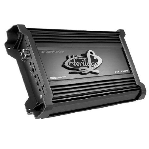 Lanzar Htg157 3000W Car Audio Class D Mono Amplifier Amp