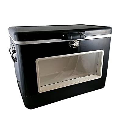 BREKX 54QT Black LED Party Cooler with Window