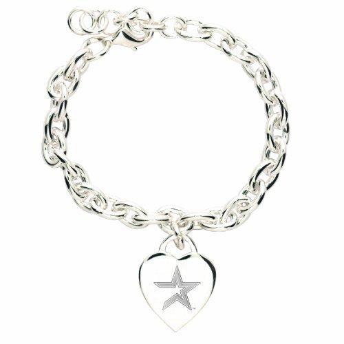 MLB Houston Astros Heart-Charm Bracelet