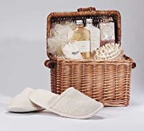 Hot Sale Spa In A Basket Wicker Chest Bath Items Massage Tools