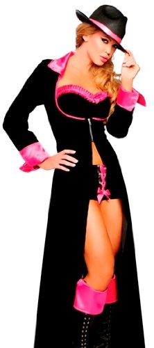 Womens Sexy Gangster Pimp Outfit Halloween Costume Womens U.S. Medium/Large