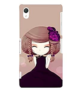 EPICCASE Chinese Cuttie Mobile Back Case Cover For Sony Xperia Z2 (Designer Case)