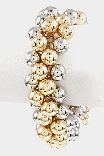 Karmas Canvas Ball Cluster Bracelet (Two Tone)