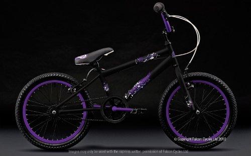 Matte Black And Purple Bmx Bmx Bike Black/purple