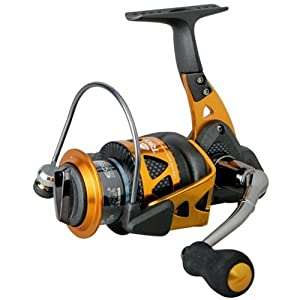 Okuma Trio High Speed Spinning Reel, Black Orange by Okuma
