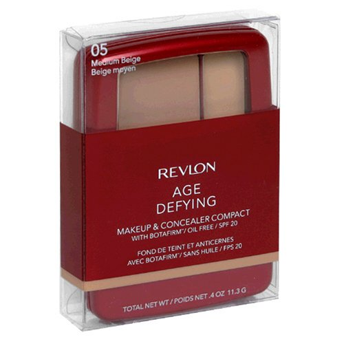 Buy Revlon Age Defying Makeup & Concealer Compact with Botafirm, SPF 20, Medium Beige 05, 0.4 oz (11.3 g) (Pack of 2)