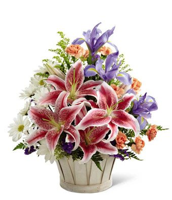 Flowers – From The Heart Sympathy Basket