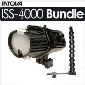 Intova ISS-4000 Underwater Slave Flash Strobe Light Head Bundle With Intova SSFL 30 Inch Stay Slim With Flex Arm Strobe Mount