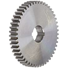 "Boston Gear GA49 Plain Change Gear, 14.5 Degree Pressure Angle, 20 Pitch, 0.625"" Bore, 49 Teeth, Steel"