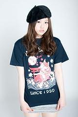 カープ公認グッズ 鯉坊やTシャツ (L, ネイビー)