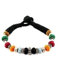 925 Silver Love Style Bead Thread Bracelet Rakhi For Women 12583