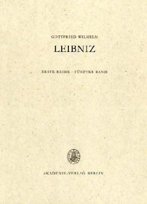 Gottfried Wilhelm Leibniz. Sämtliche Schriften und Briefe: 1687-1690: 5