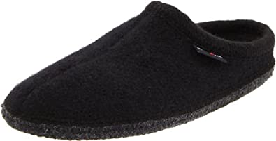 Haflinger Women's AS Wool Indoor Slipper,Black,37 EU (US Women's 6 M)